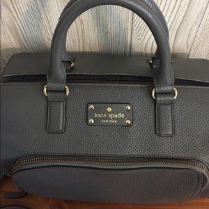 Grey leather Kate spade bag